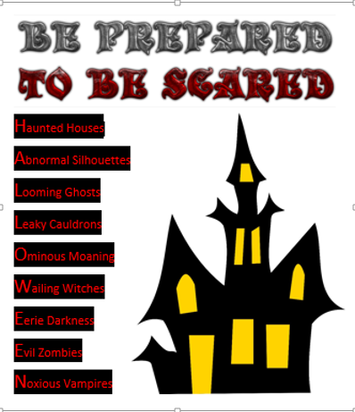 Be prepared to be scared !!!